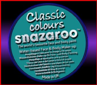 SNAZAROO 50 FACE PAINT 18ML POT SEA BLUE